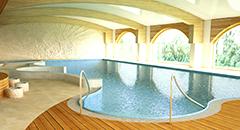 Schwimmbecken-Teilansicht Hotel Buczyński