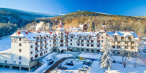 Winterbild vom Hotel Buczynski