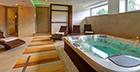 Blick in einen Wellness-Raum des Hotels Skal