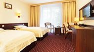 Doppelzimmer mit Flachbild-TV im Hotel Wolin Misdroy
