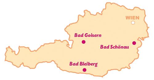 Österreich-Karte Kurorte