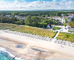 Kühlungsborn mit Aquamarin Hotel aus der Vogelperspektive