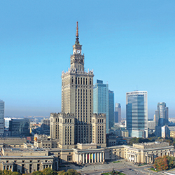 Palast für Wissenschaft und Kultur in der Hauptstadt Warschau