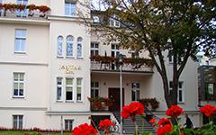 Eingangsbereich des Hotels Jantar Spa