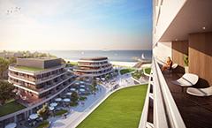 Radiisson Blu Resort (Zeichnung) Bilck vom Balkon