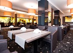 Moderner Essenraum des Hotels Cristal Spa