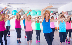 Aerobic-Übungsgruppe