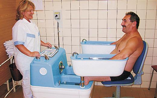 Vierzellenbäder werden u.a. im böhmischen Podebrady durchgeführt.