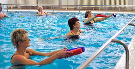 Wassergymnastik im Spa-Hotel Behounek