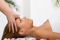 Relaxmassage am Kopf