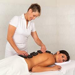 Hot-stone-Massage im Franzensbader Kurhotel Goethe
