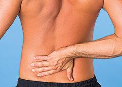 Der Rücken schmerzt
