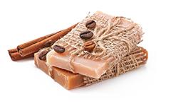 Wellness-Seife mit Zimt und Kaffee