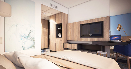 Komfort-Zimmer im Trofana-Neubau (Computergrafik)