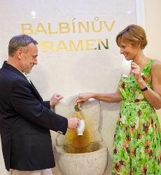 Marienbader Balbín-Quelle im Hotel Vltava