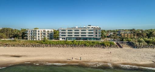 Hotel-Ansicht vom Baltischen Meer aus