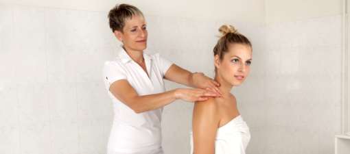 Schulter-Nacken-Massage im Franzensbader Kurhotel Belvedere