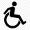Rohlstuhl-Symbol für Barrierefreiheit