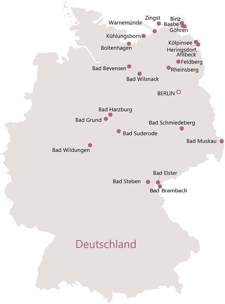 Deutschland Kurorte und Orte mit Wellness-Angeboten
