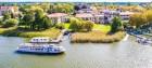 Seehotel Rheinsberg Seeseite aus der Vogelperspektive © REMUS