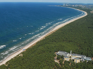 Das Hoitel Senator liegt wunderschön an der Ostsee.