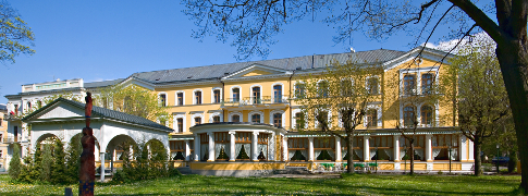 Kurhotel Belvedere im Spätsommer