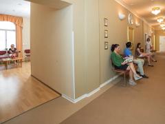 Wartebereich in der Kurabteilung des Hauses Dr. Adler