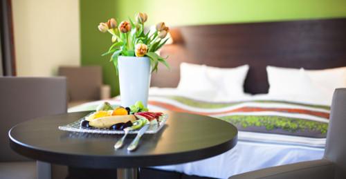 Teilansicht Doppelzimmer-Beispiel im relexa-Hotel