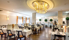 Blick ins Restaurant des Falkensteiner Hotels