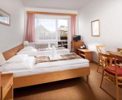 Doppelzimmer-Wohnbeispiel im Hotel Hubert