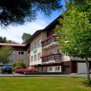 Hof des Franzensbader Hotels Hubert