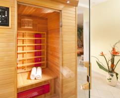 Kleine Sauna im Hotel Hubert
