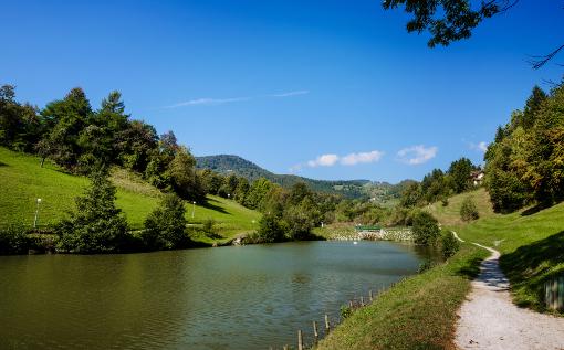 Landschaft im slowenischen Zrece