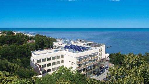 Gleich an der Ostsee befindet sich das Hotel Lambert Ustronie Morskie