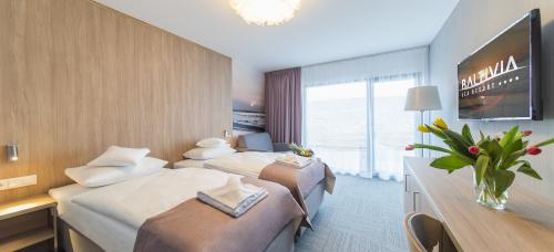 Doppelzimmer-Wohnbeispiel des Baltivia Sea Resorts