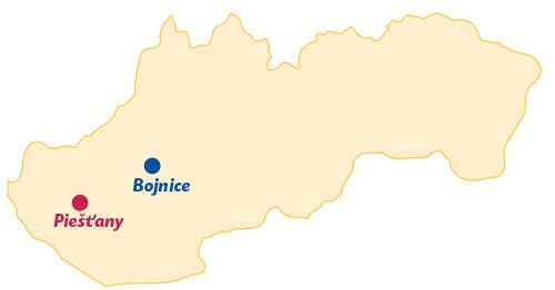 Karte Kurorte in der Slowakei